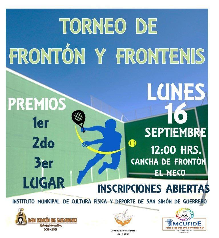 Convocatorias para el torneo de Frontón y Frontenis
